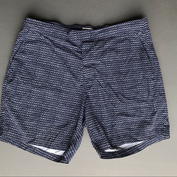 0d72925883 J. Crew Swim | J Crew Mens Trunks Blue White Shorts 35 | Poshmark